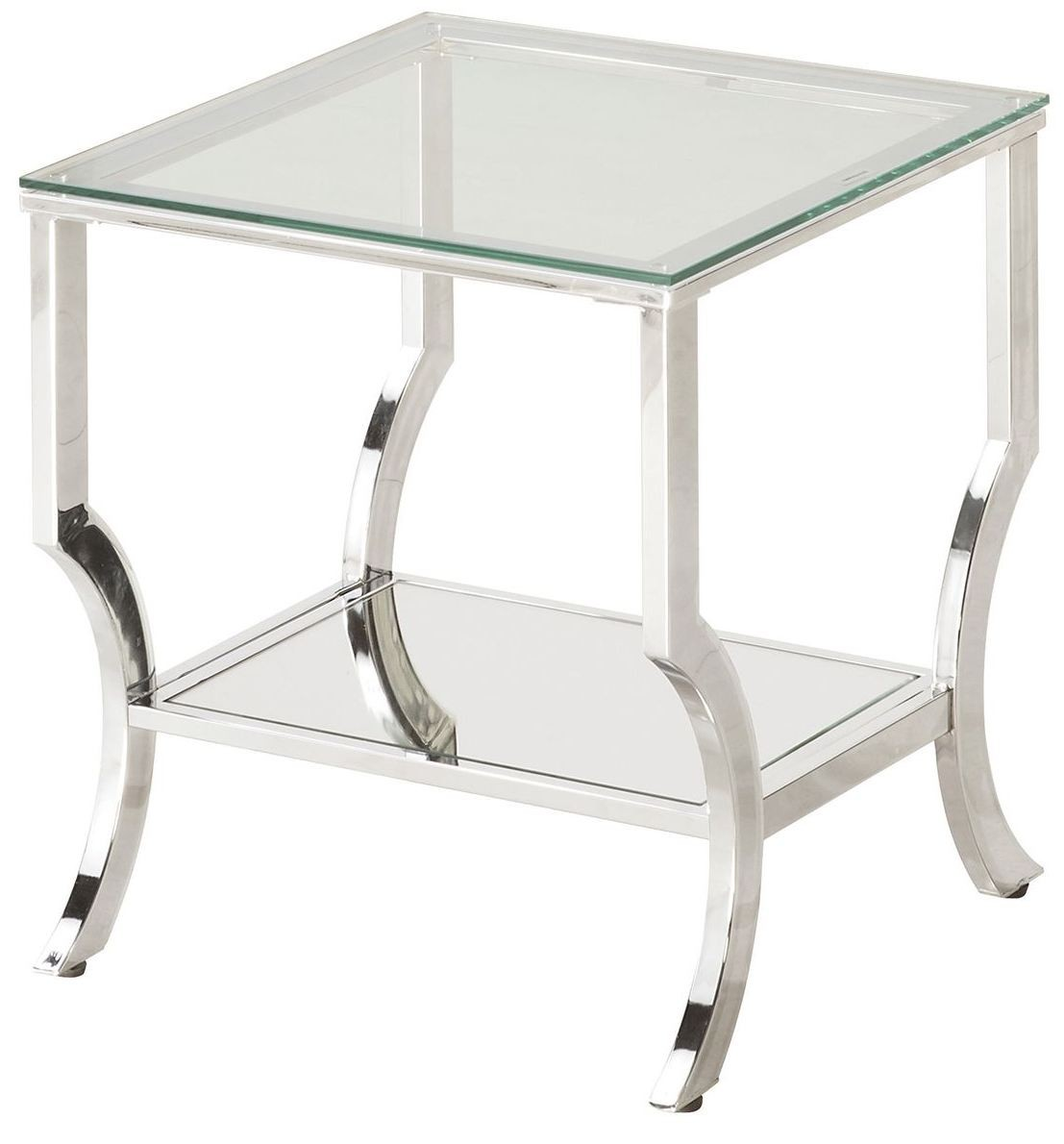 Side Table Glas Chrome And Tempered Glass End Table 720337 Coaster Furniture