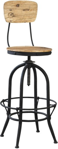 Industrial Brown Bar Stool Set of 2 from Furniture ...