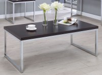 Cappuccino And Chrome Coffee Table from Coaster | Coleman ...