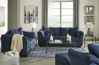 Darcy Blue Living Room Set from Ashley | Coleman Furniture