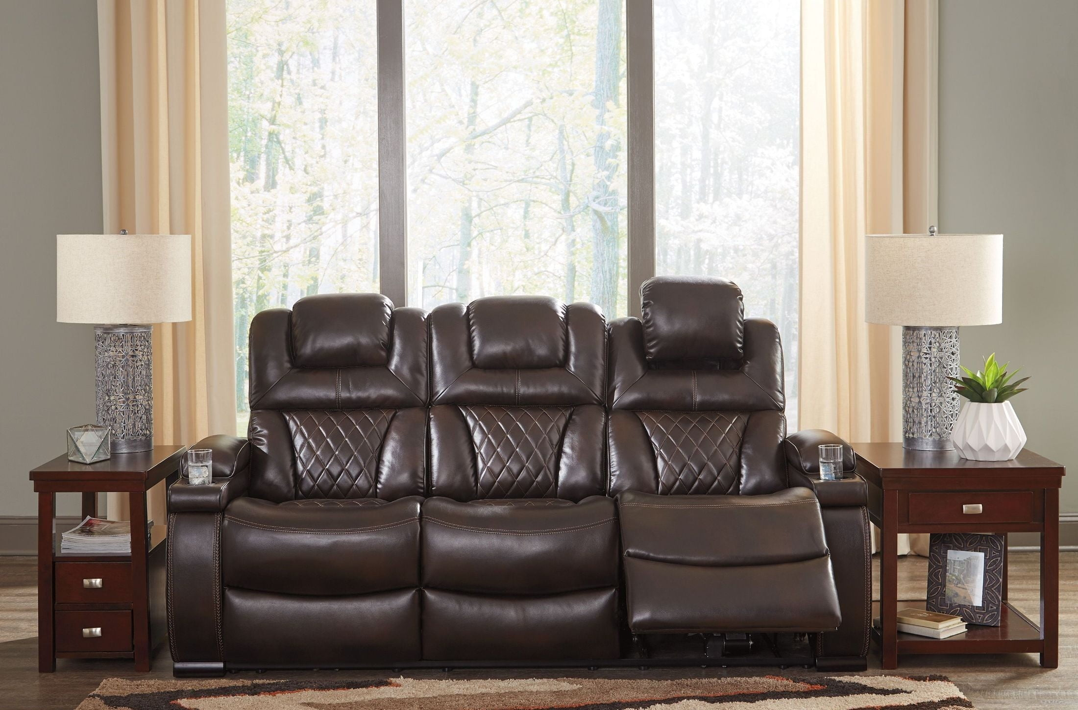 Sofa Bed Express Delivery Warnerton Chocolate Power Reclining Sofa