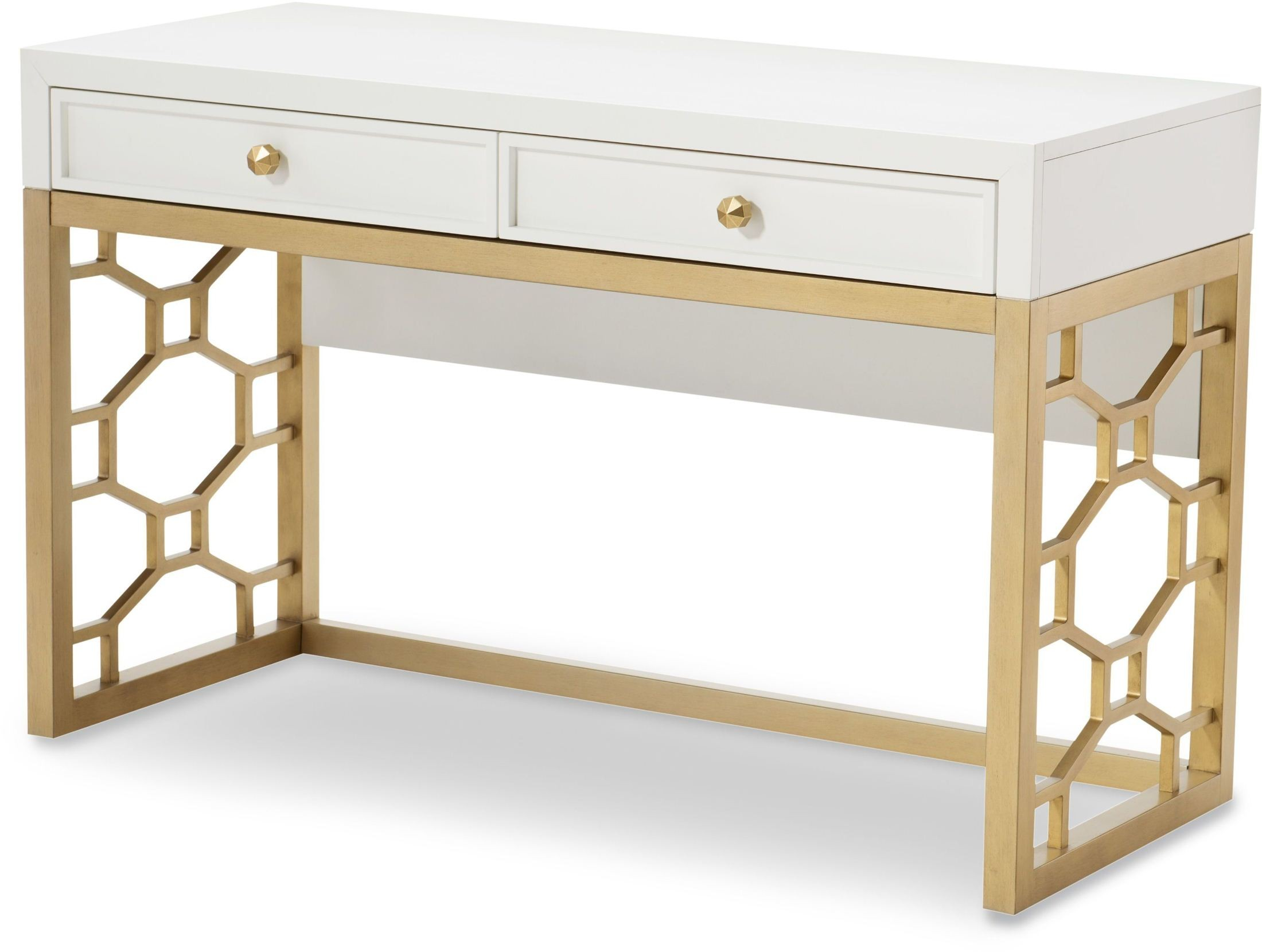 White And Gold Desk Chair Uptown White And Gold Vanity From Racheal Ray Home