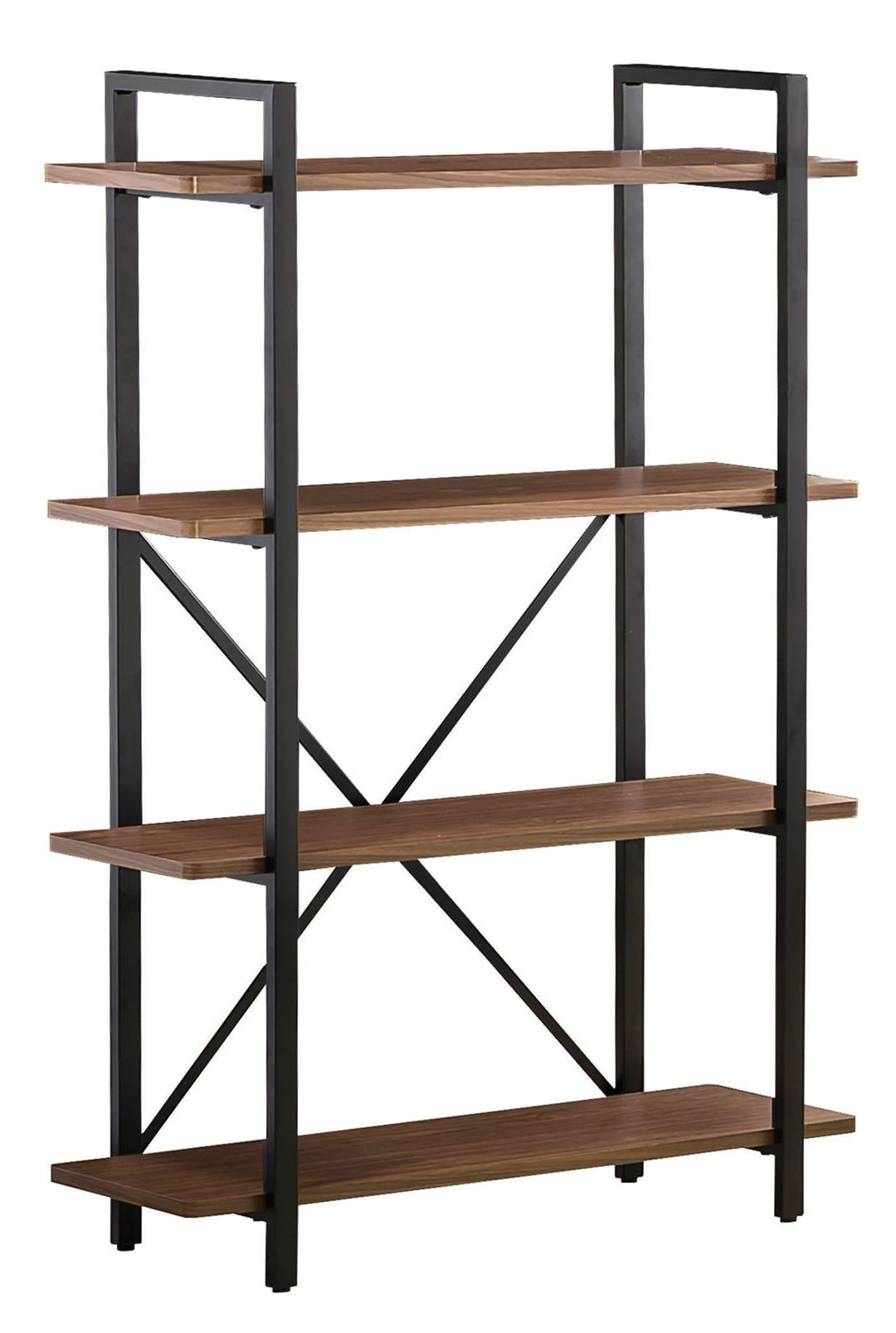 Aluminum Bookcase 800336 Light Brown Metal Frame Bookcase From Coaster