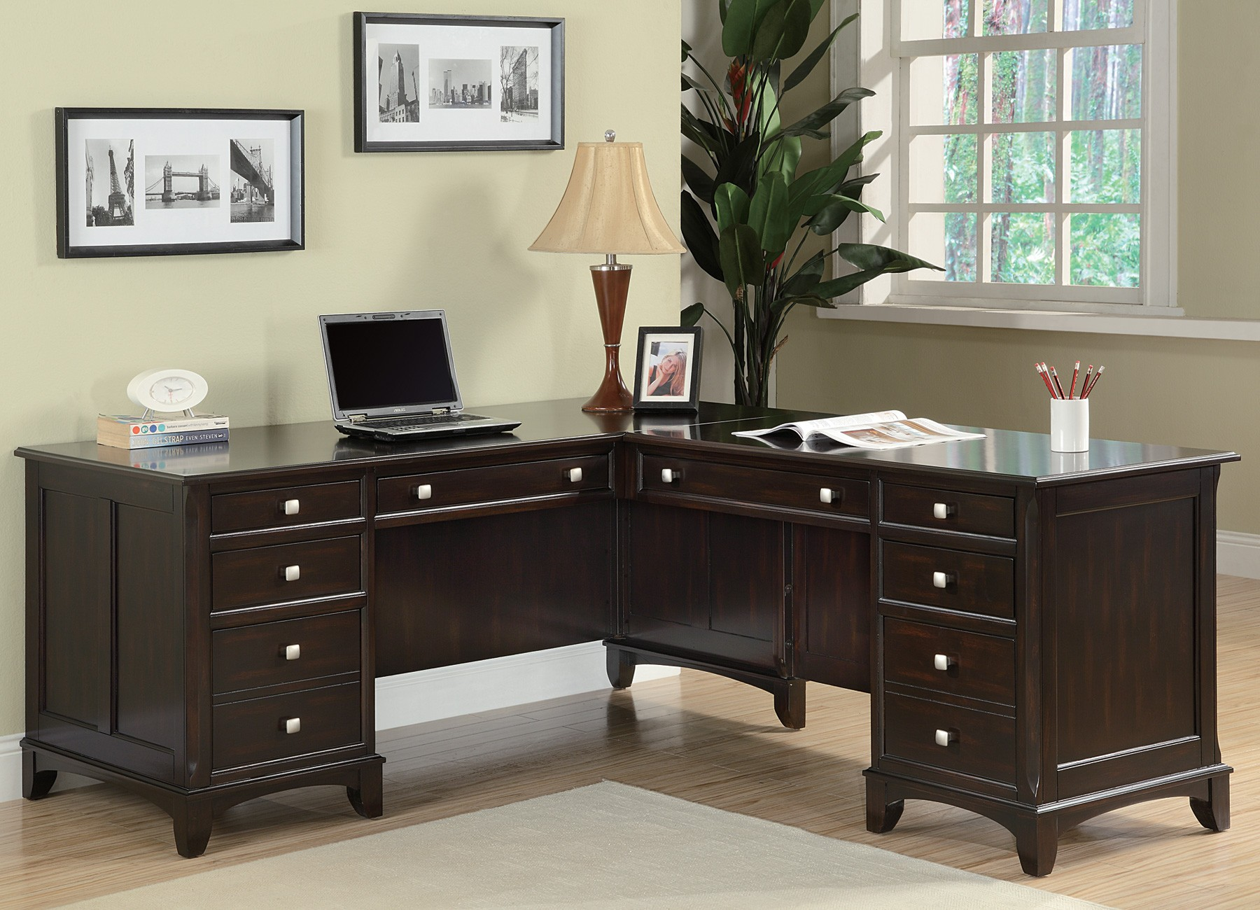 Home Office Desks Garson Home Office L Shaped Desk From Coaster 801011l