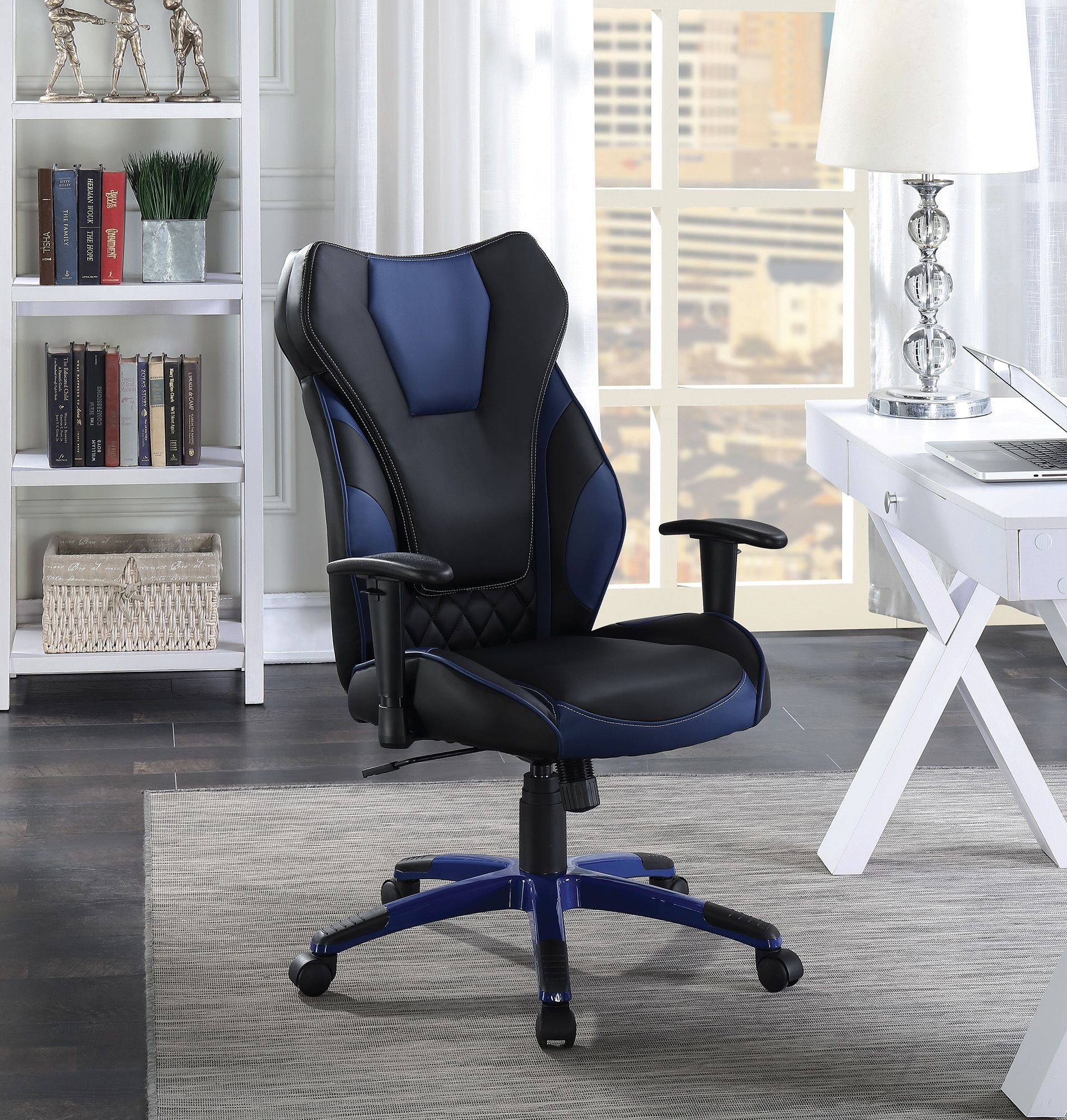 Blue Office Chair Black And Blue Office Chair From Coaster Coleman Furniture