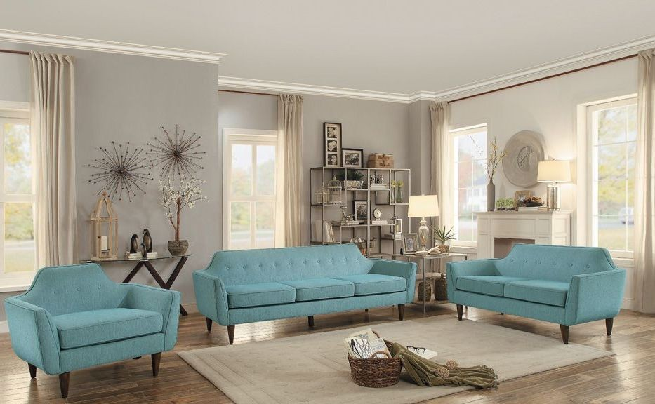 Ajani Teal Living Room Set from Homelegance