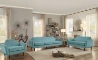 Ajani Teal Living Room Set from Homelegance | Coleman ...