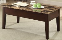 Dusty II Finely Light Brown Faux Marble Lift Top Coffee ...