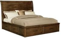 Cameron Burnished Tobacco Sleigh Storage Bedroom Set, 851 ...