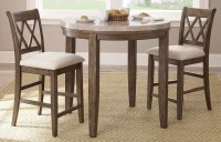 Franco Marble Top Counter Height Dining Room Set from ...