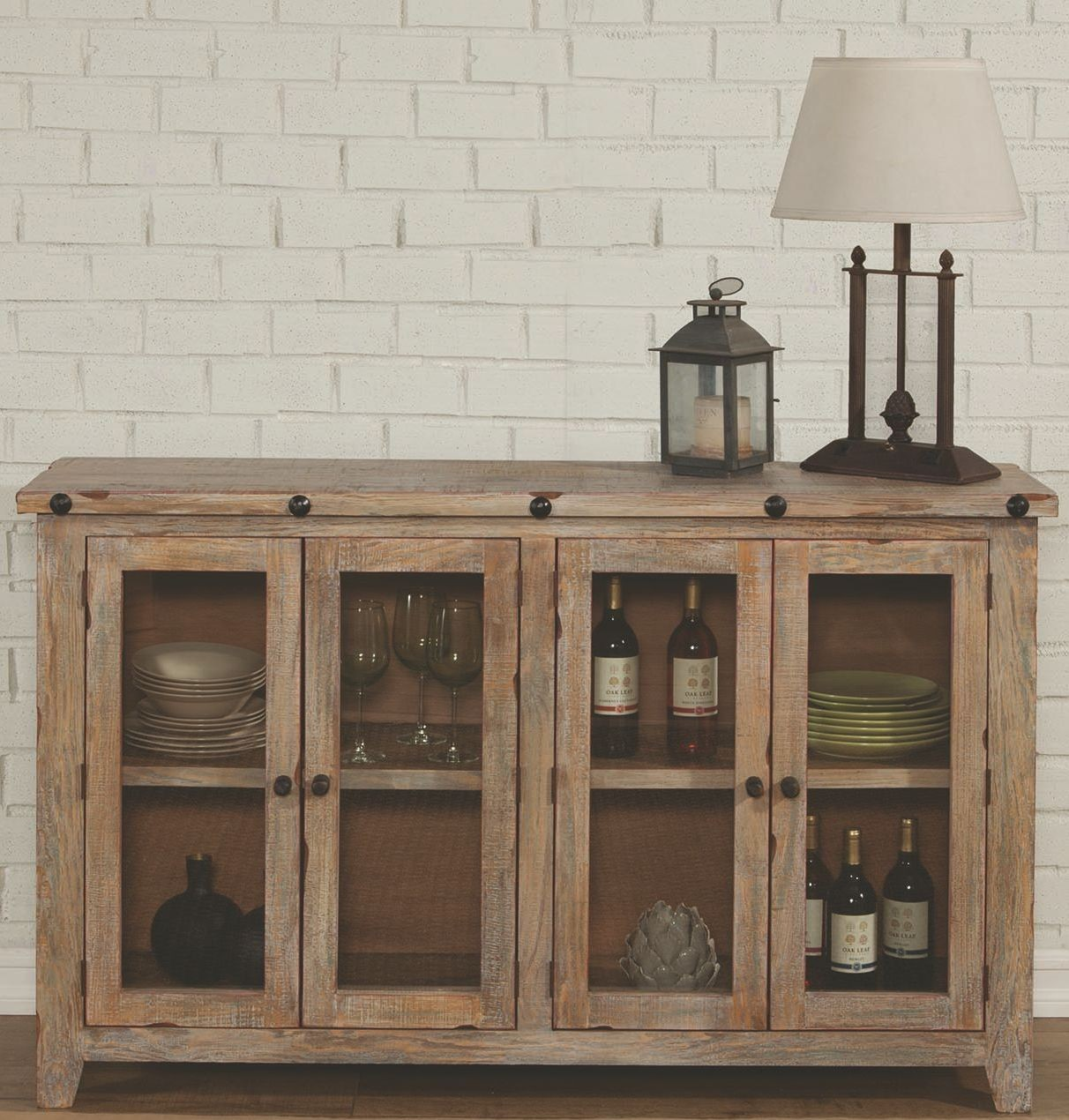 Natural Rustic Accent Cabinet, 950663, Coaster Furniture