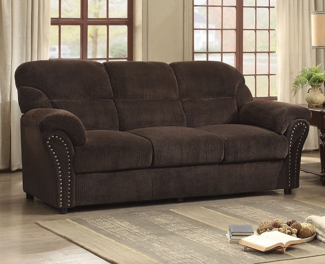 Dark Brown Couch Valentina Dark Brown Sofa From Homelegance Coleman Furniture