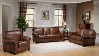Royale Camel Brown Leather Living Room Set, C9755S2839LS ...