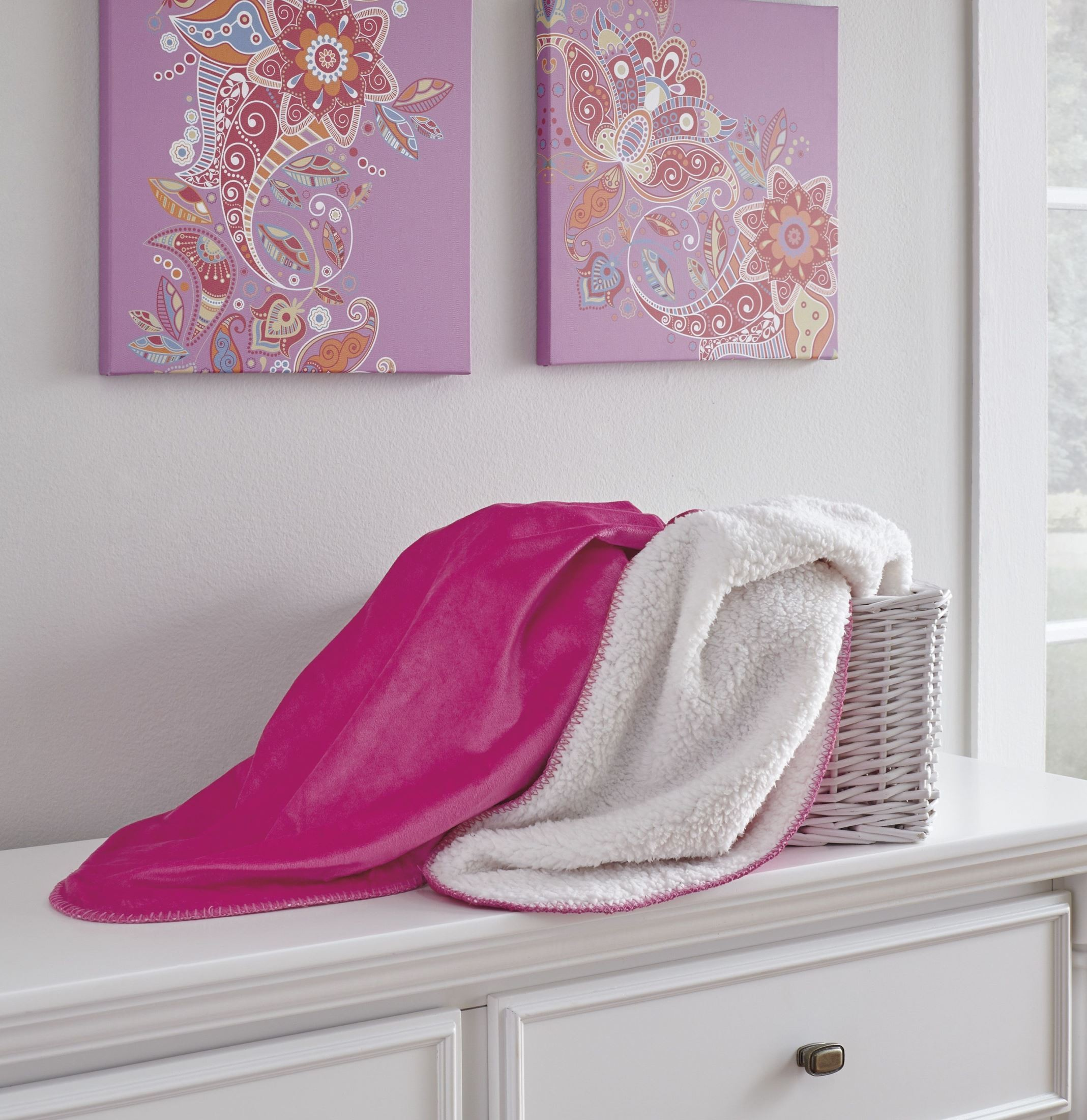 Pink Throw Romeo Pink Throw Set Of 3 From Ashley Coleman Furniture