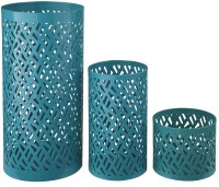 Caelan Teal Candle Holder Set of 3 from Ashley (A2000156 ...