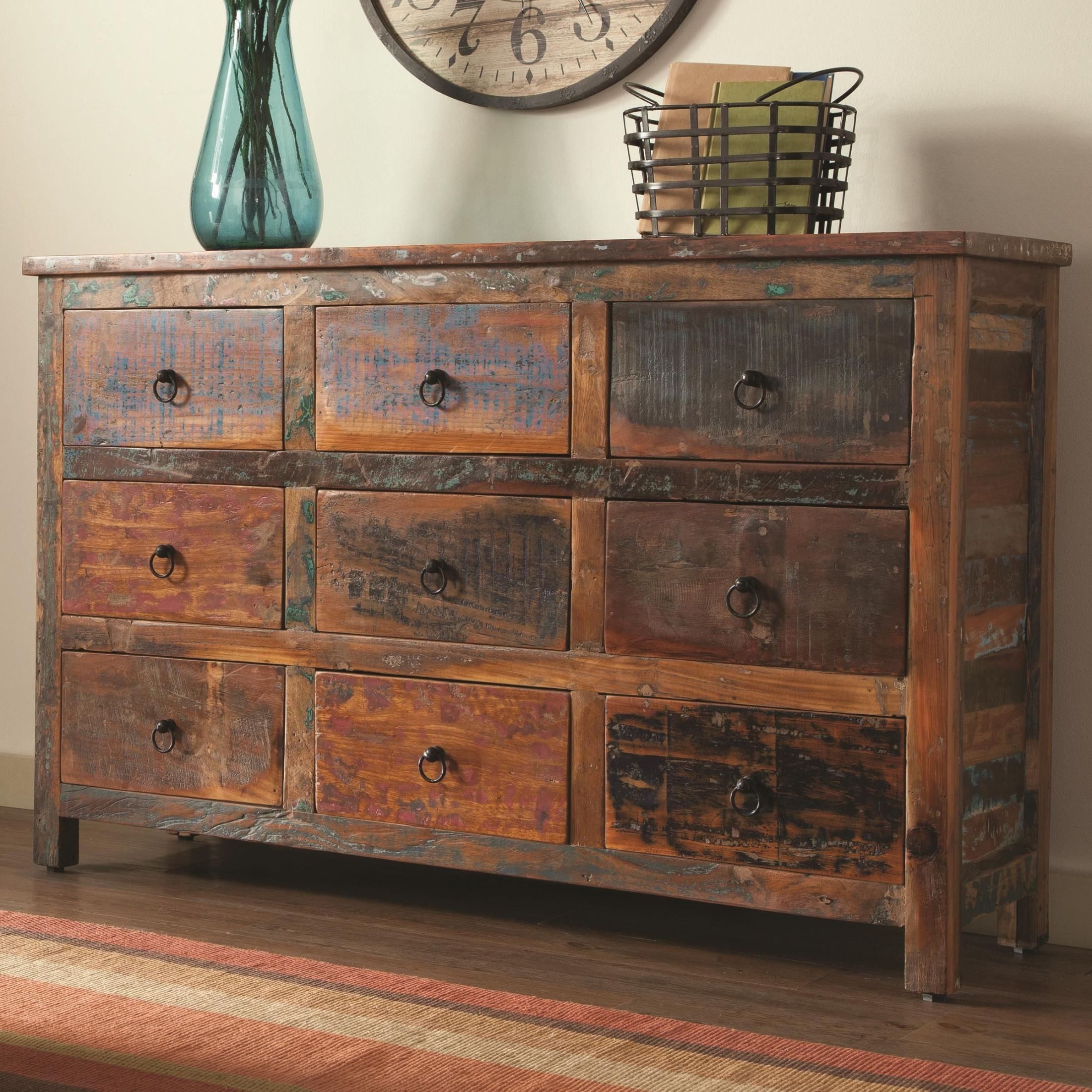 950365 9 Drawer Rustic Accent Cabinet from Coaster (950365