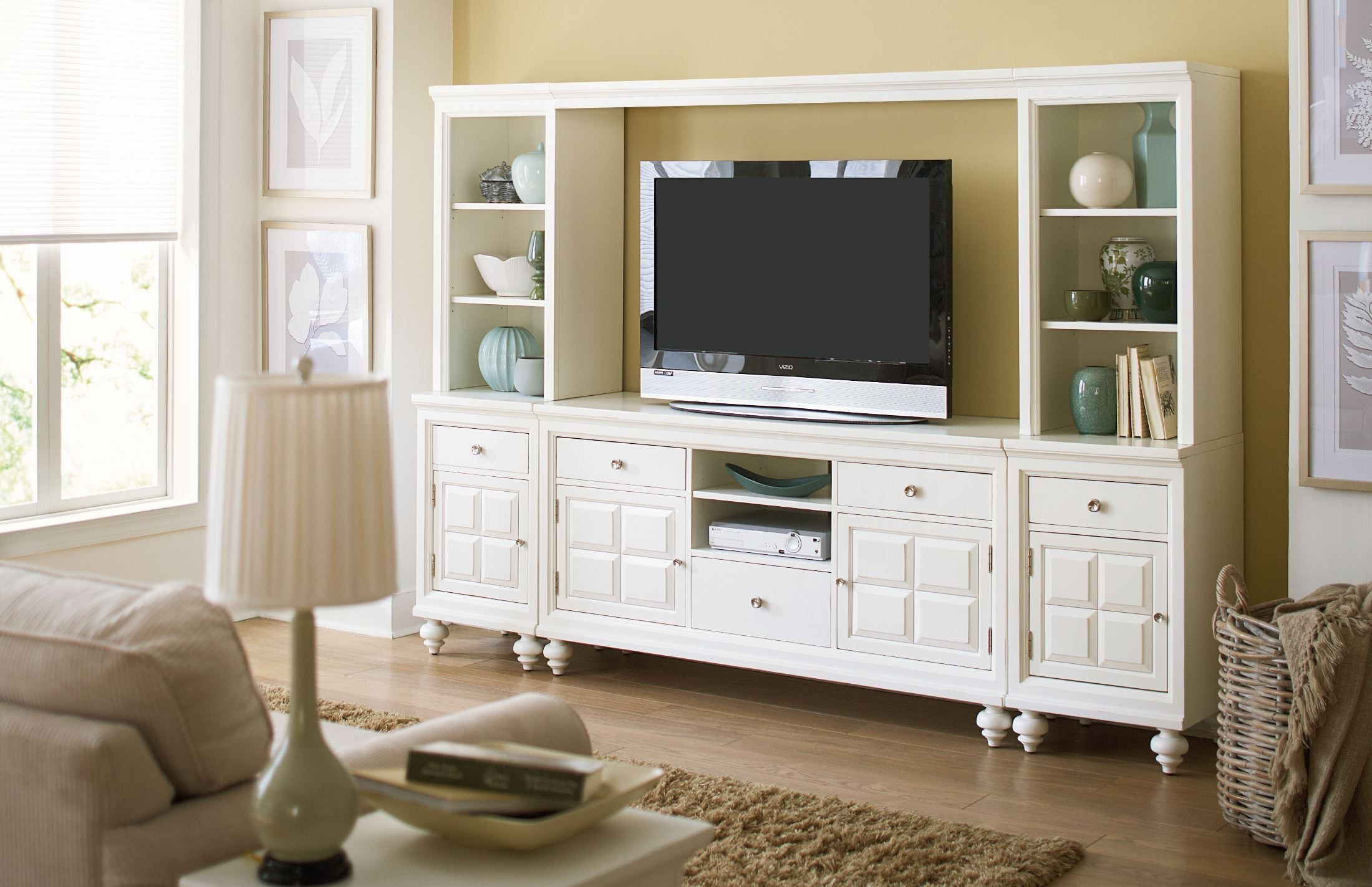White Entertainment Wall Unit Lynn Haven Dover White Entertainment Wall Unit From