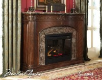 Villagio Marble Top Fireplace With Electric Fireplace