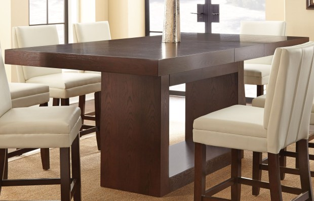 antonio extendable rectangular dining table height
