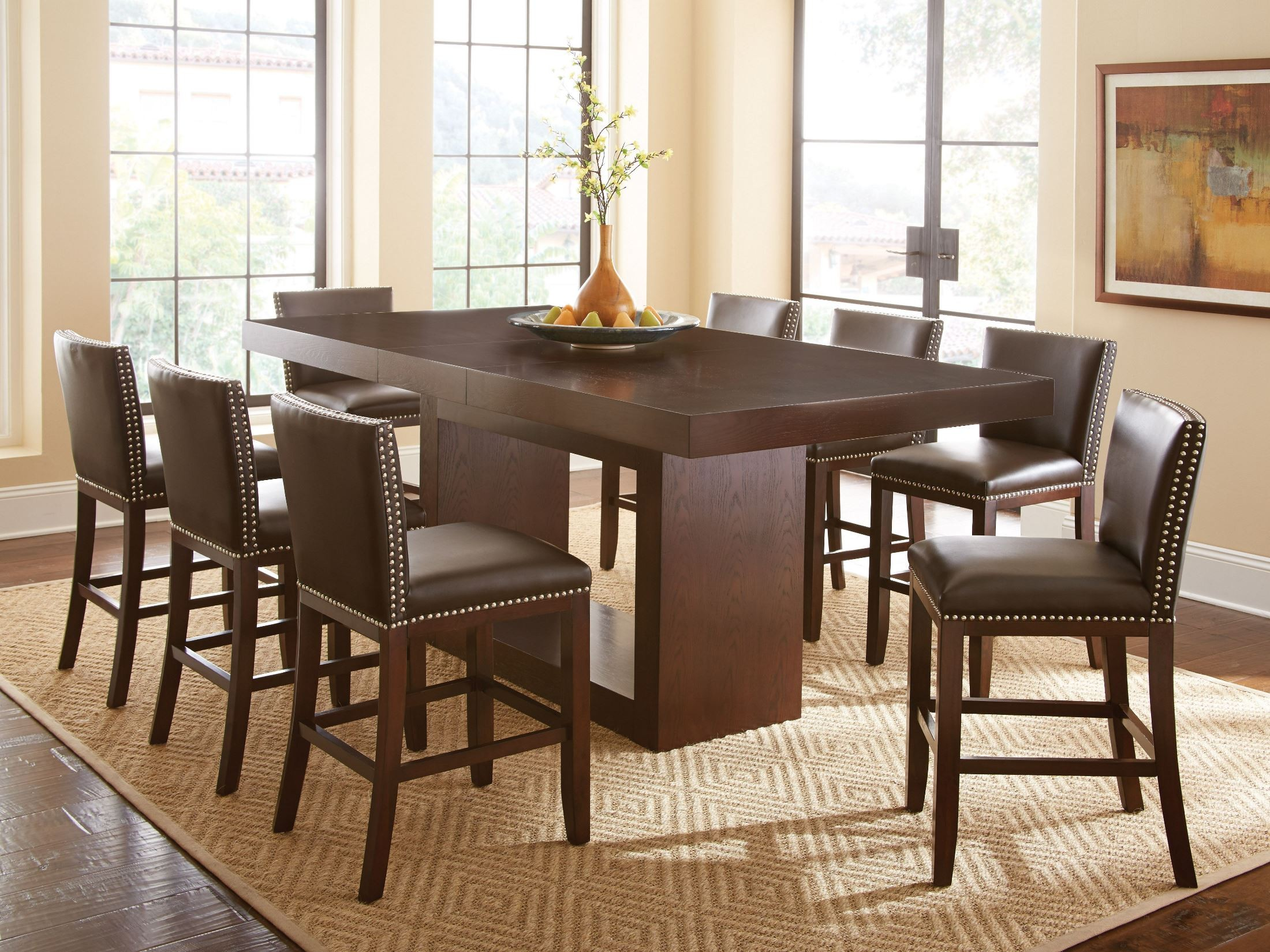 Countertop Table Sets Antonio Extendable Rectangular Counter Height Dining Table
