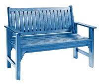 Generations Blue Garden Bench from CR Plastic (B01-03 ...
