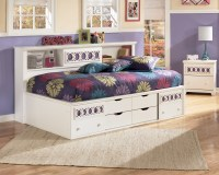 Zayley Twin Bookcase Storage Bed from Ashley (B131-85-51 ...