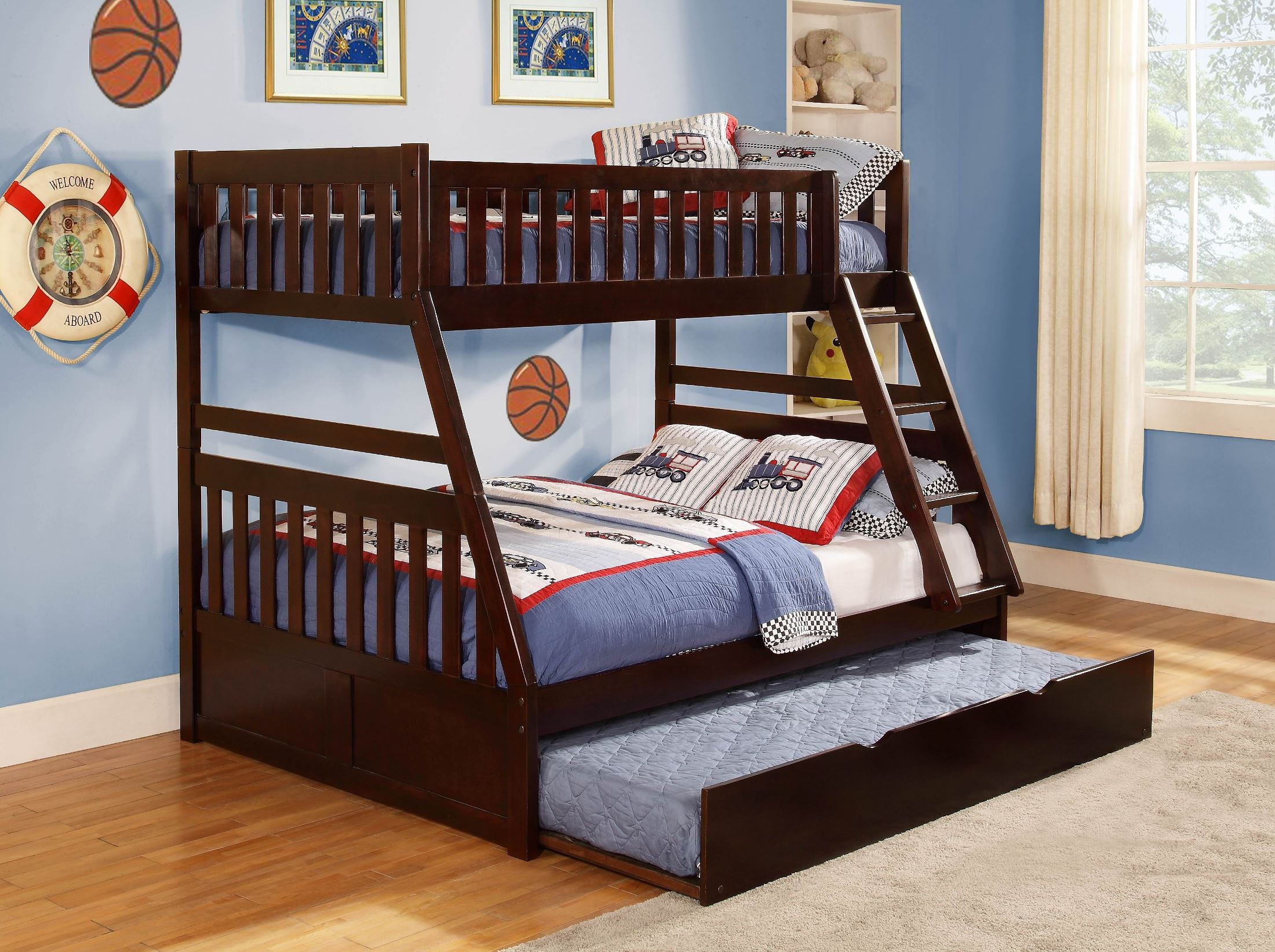 Double Bunk Beds Rowe Twin Over Full Bunk Bed From Homelegance B2013tfdc 1