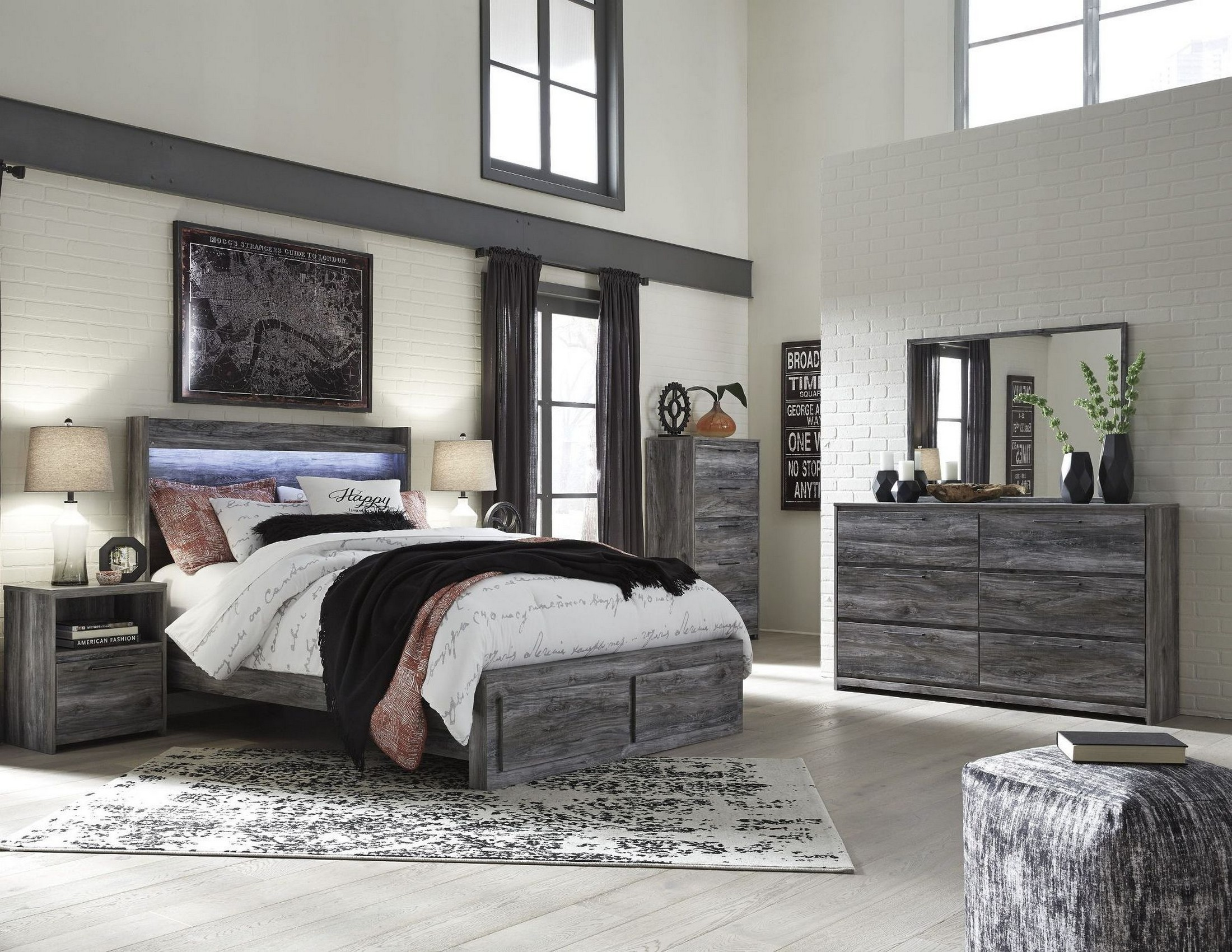 Baystorm Gray Platform Storage Bedroom Set from Ashley