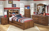 Barchan Youth Trundle Bookcase Bedroom Set, B228-63-52-82 ...