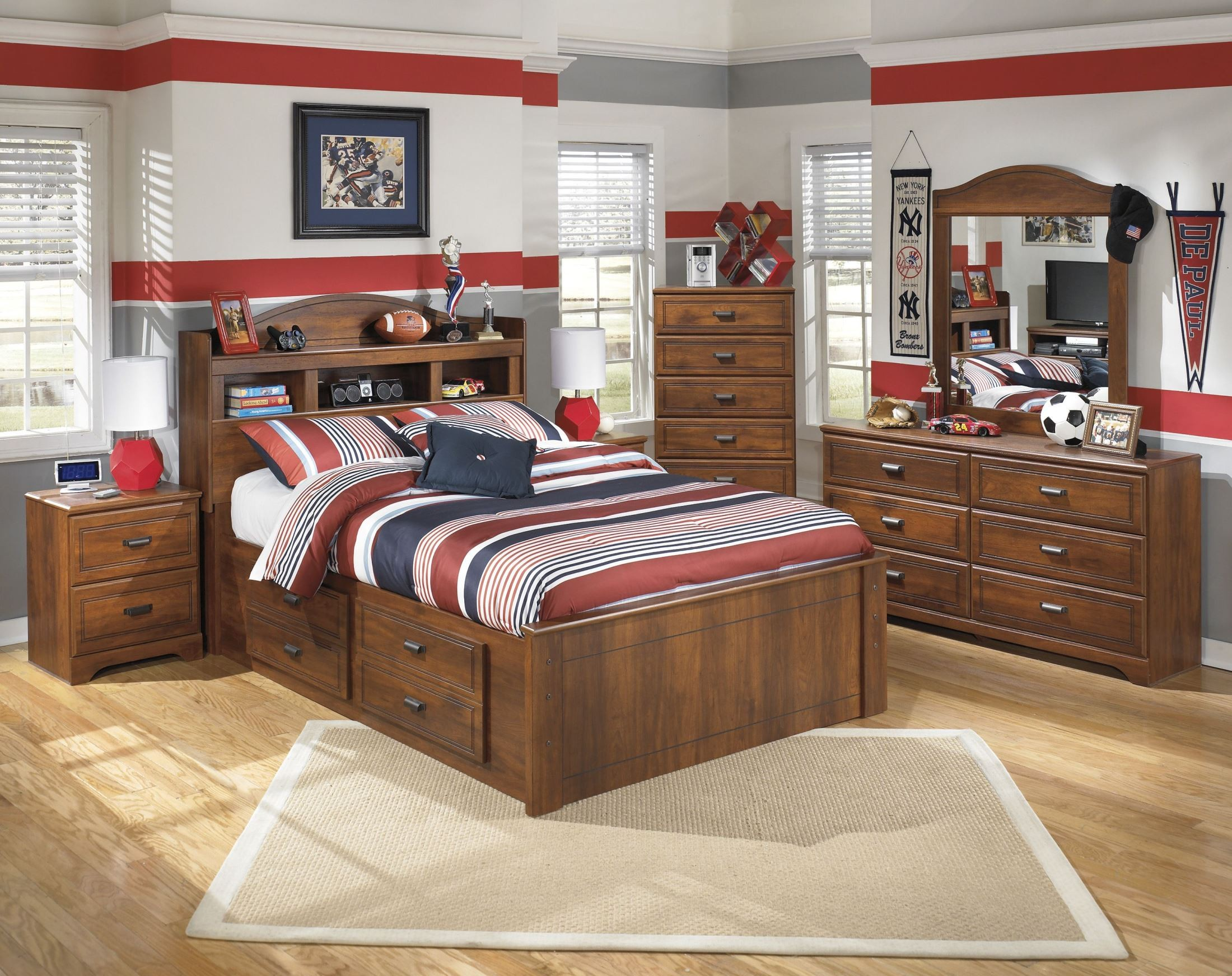 Barchan Full Bookcase Underbed Storage Bed From Ashley Coleman Furniture