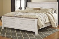 Willowton Whitewash Panel Bedroom Set, B267