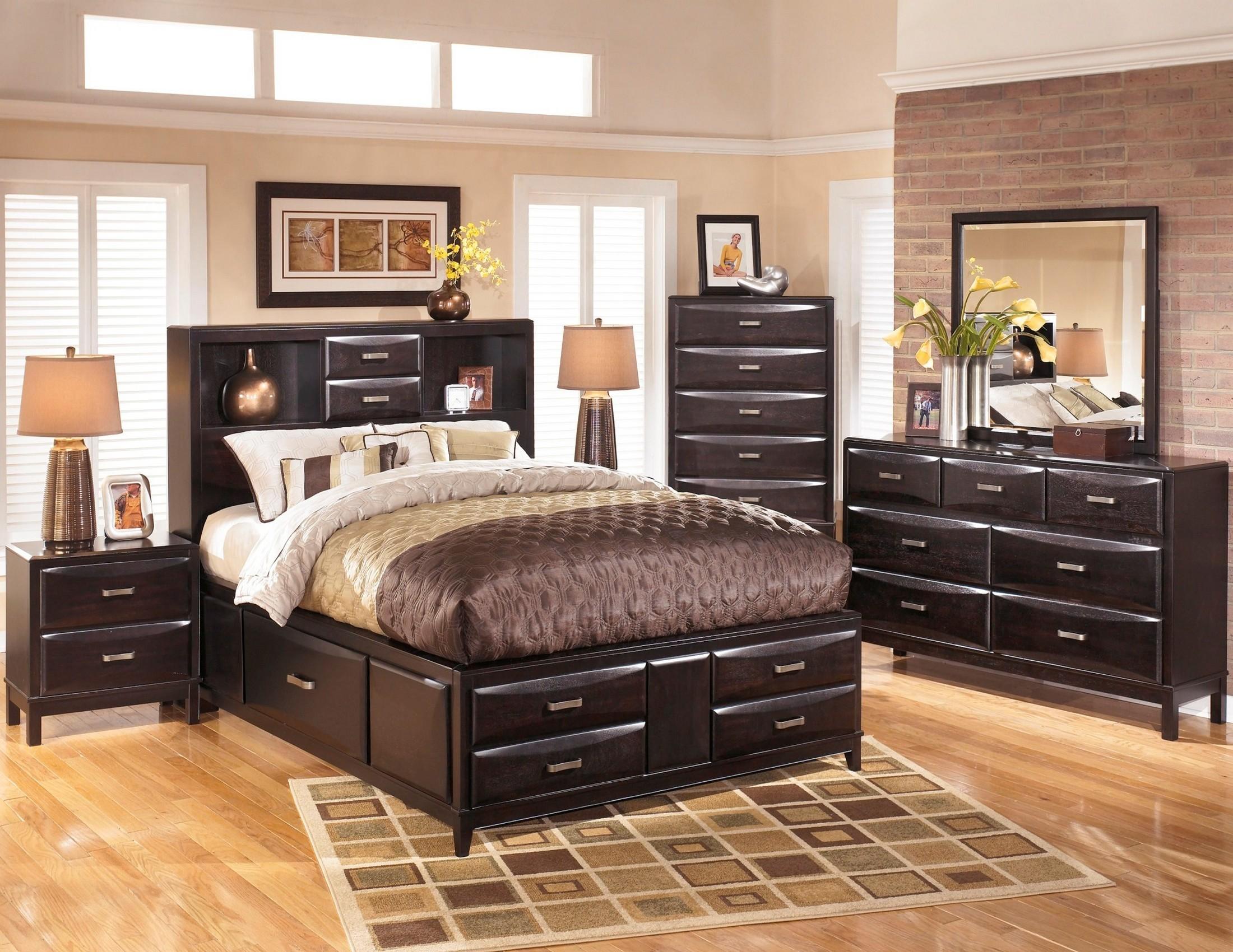 Kira Storage Platform Bedroom Set from Ashley (B473