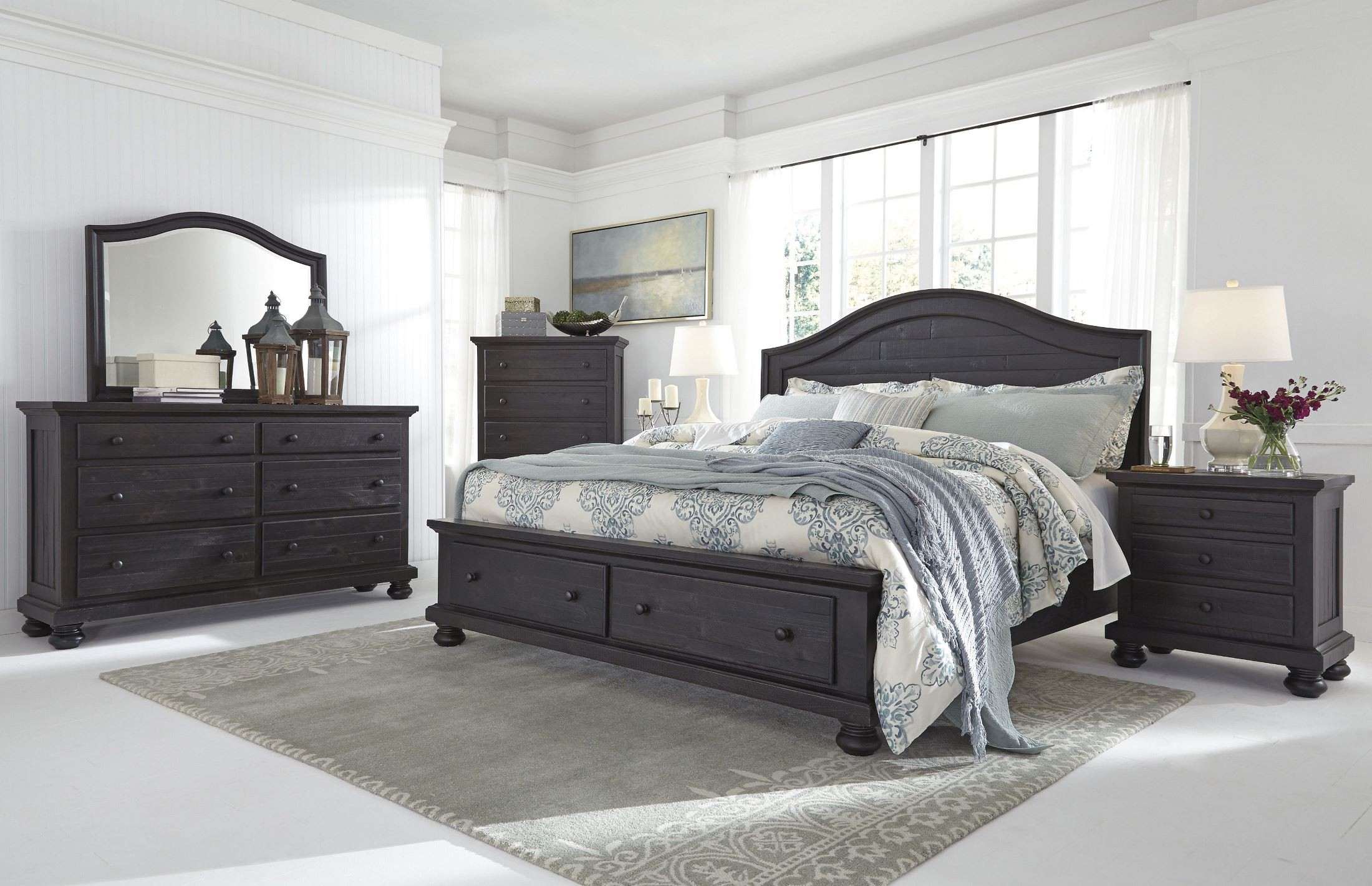 Charcoal Carpet Bedroom Sharlowe Charcoal Storage Panel Bedroom Set From Ashley