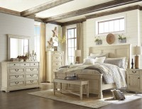Bolanburg White Louvered Panel Bedroom Set from Ashley