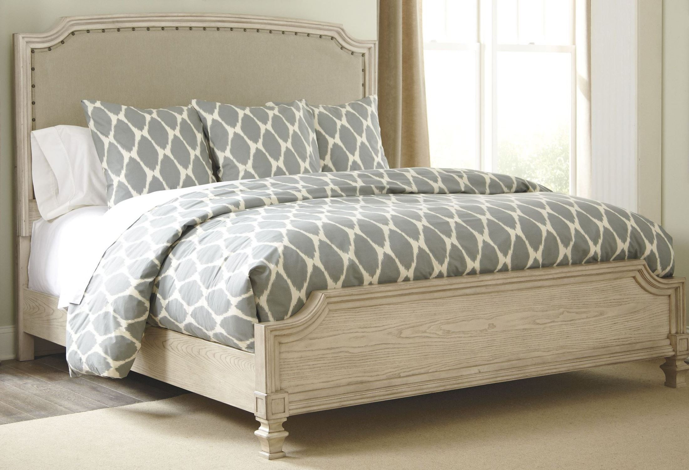 What Is A Panel Bed Demarlos Cal King Upholstered Panel Bed From Ashley B693