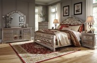 Birlanny Silver Upholstered Panel Bedroom Set, B720-57-54 ...