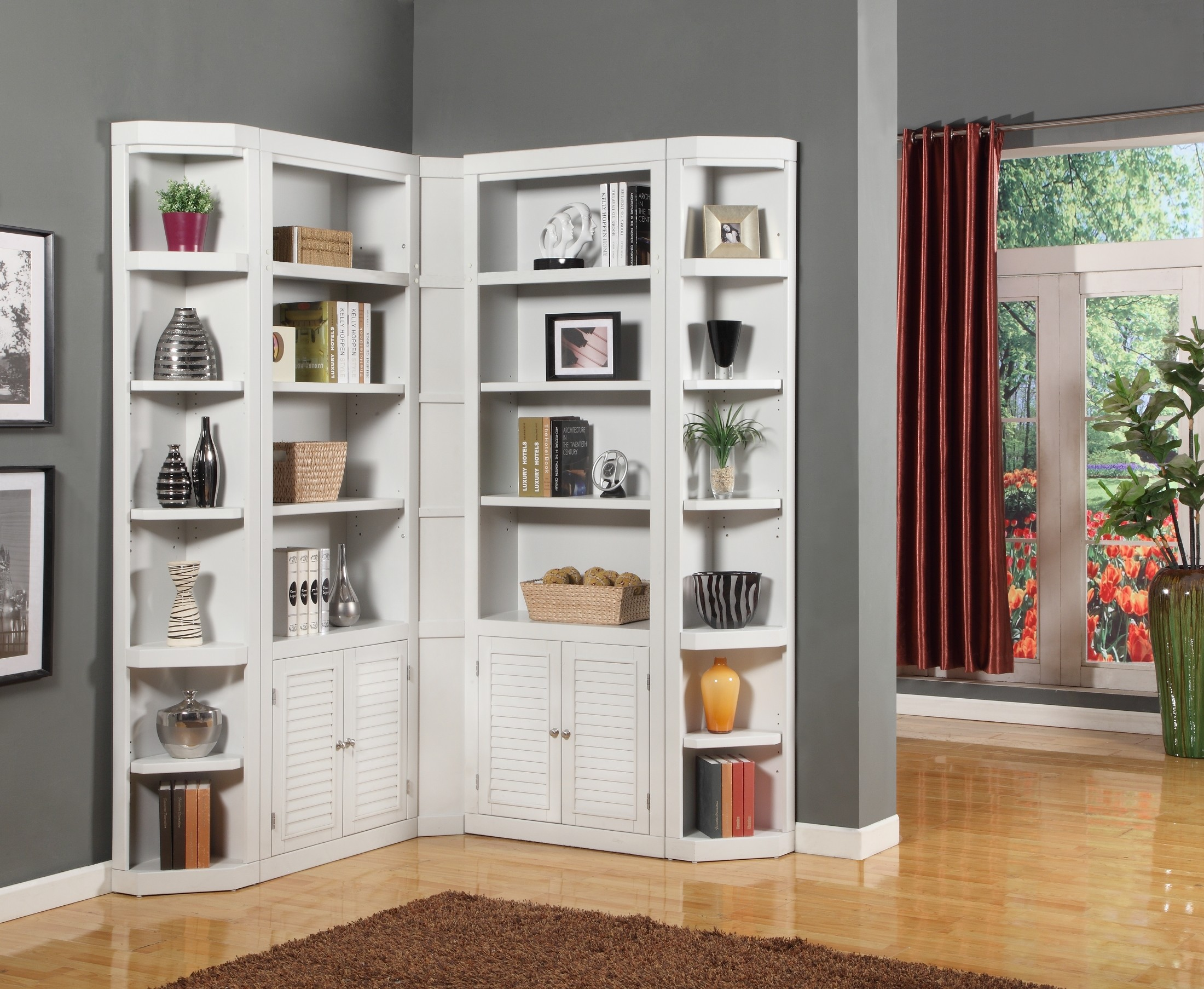 Boca L Shape Bookcase Wall From Parker House Coleman