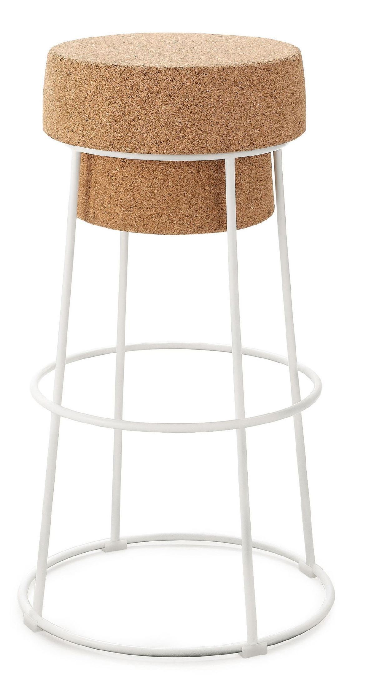 Bouchon Counter Stool Bouchon Cork Lacquered Steel Counter Stool From Domitalia