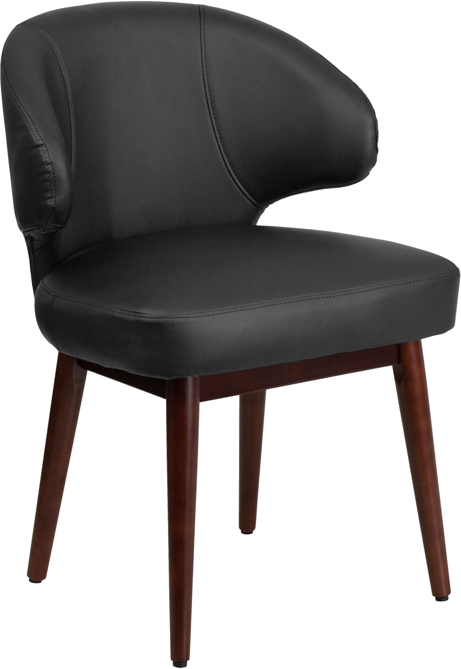 Lounge Desk Chair Comfort Back Black Reception Lounge Office Chair From