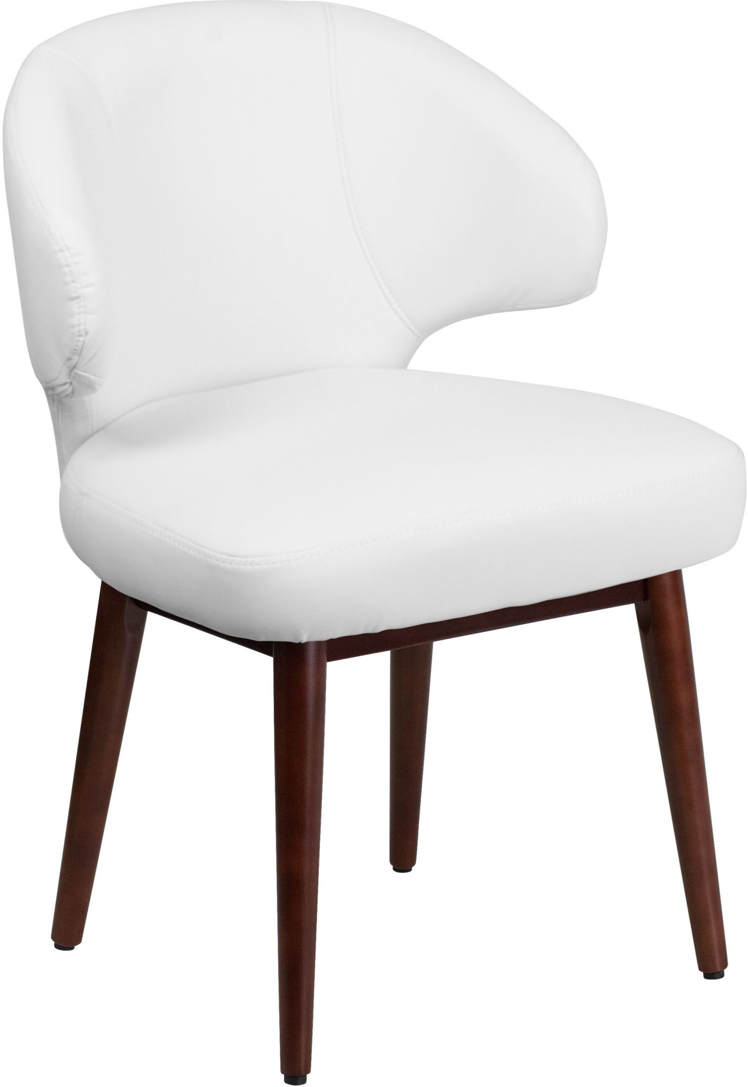 Lounge Desk Chair Comfort Back White Reception Lounge Office Chair Bt 2 Wh