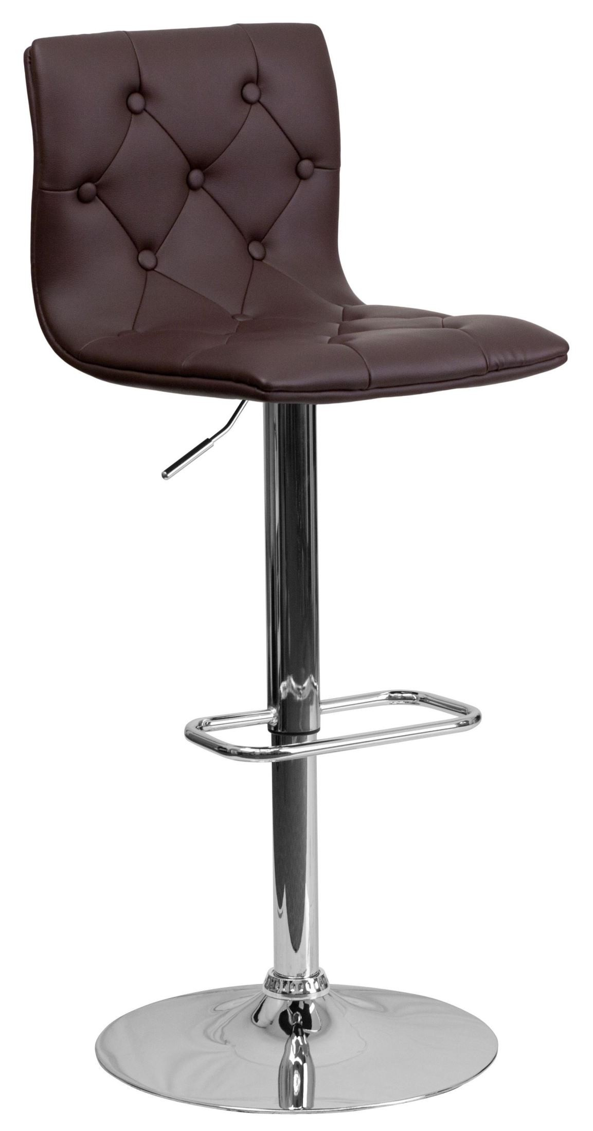 Brown Adjustable Bar Stool Tufted Brown Adjustable Height Bar Stool From Renegade