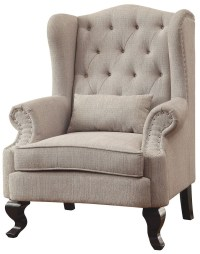 Willow Beige Accent Chair, CM-AC6271BG-CH, Furniture of ...
