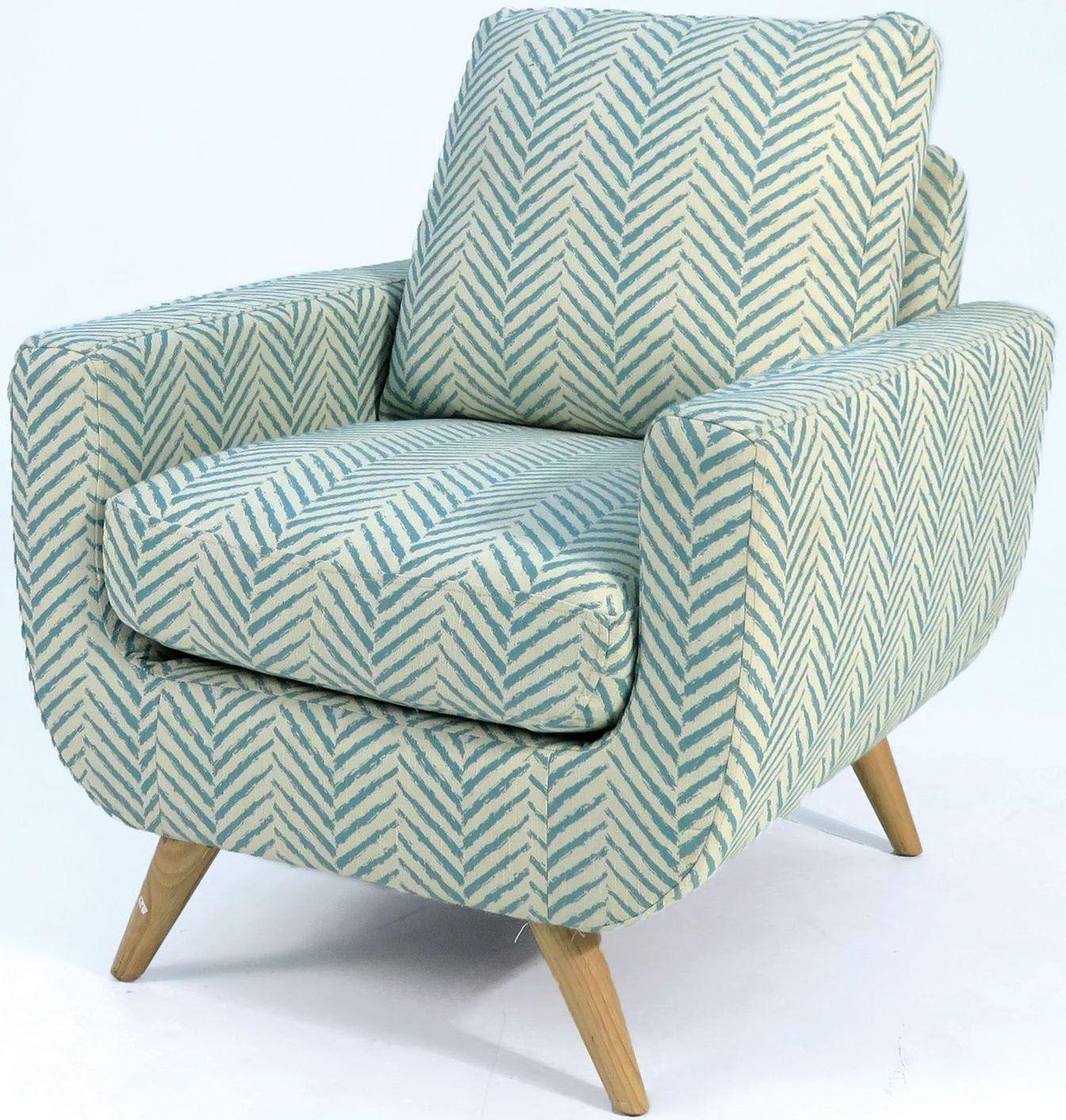Alondra Blue Pattern Accent Chair Cm Ac6821bl Furniture