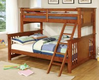 Spring Creek Oak Twin Extra Large Twin Over Queen Bunk Bed ...