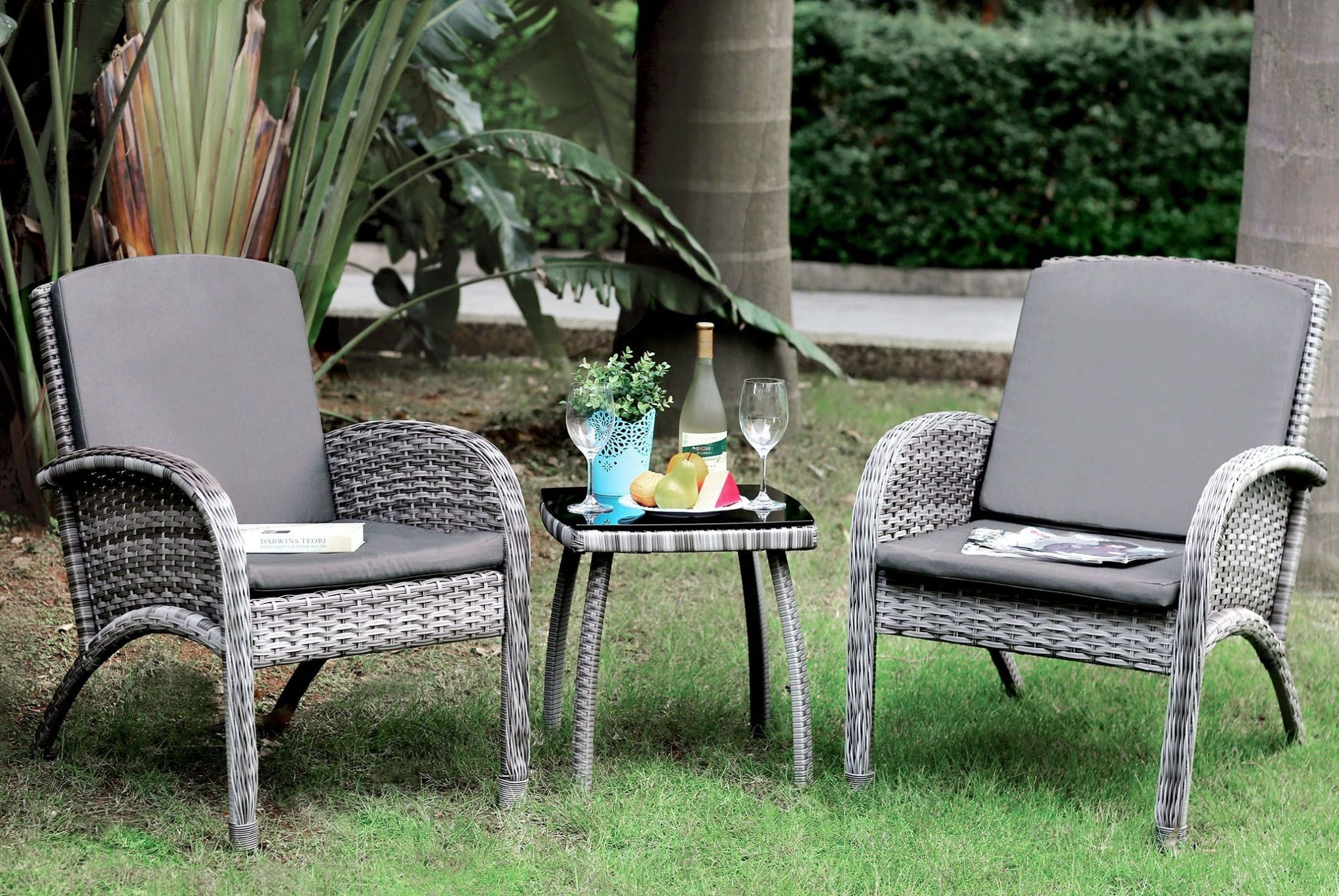 Juno Gray 3 Piece Patio Seating Set From Furniture Of