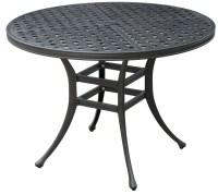 Chiara II Dark Gray Round Patio Dining Table, CM-OT2303-RT ...