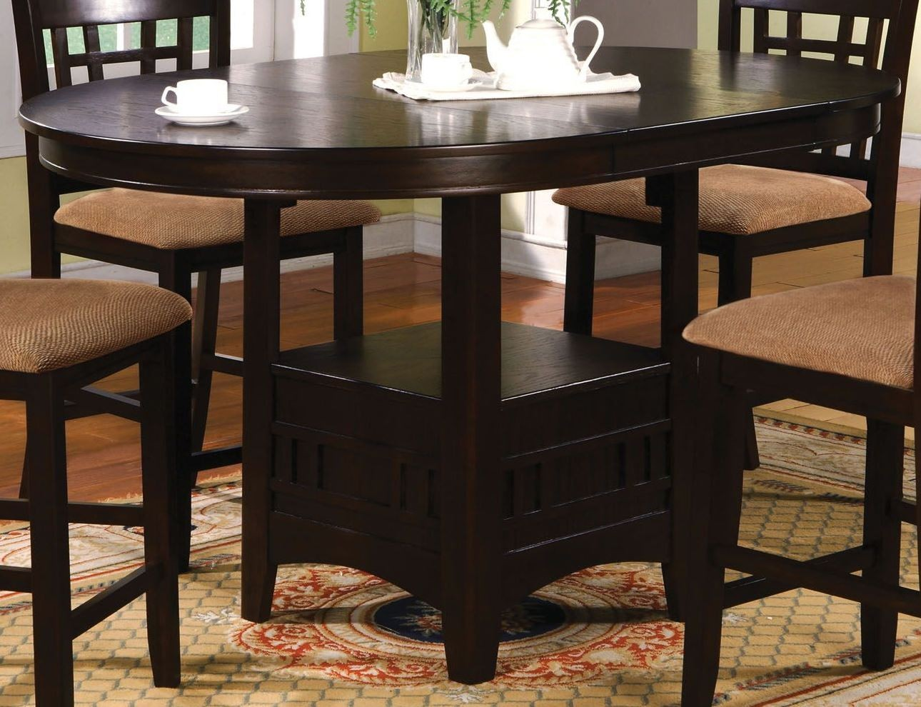 Dining Table Height Cm Metropolis Oval Counter Height Table From Furniture Of