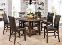 Meagan II Brown Cherry Round Counter Height Dining Room ...