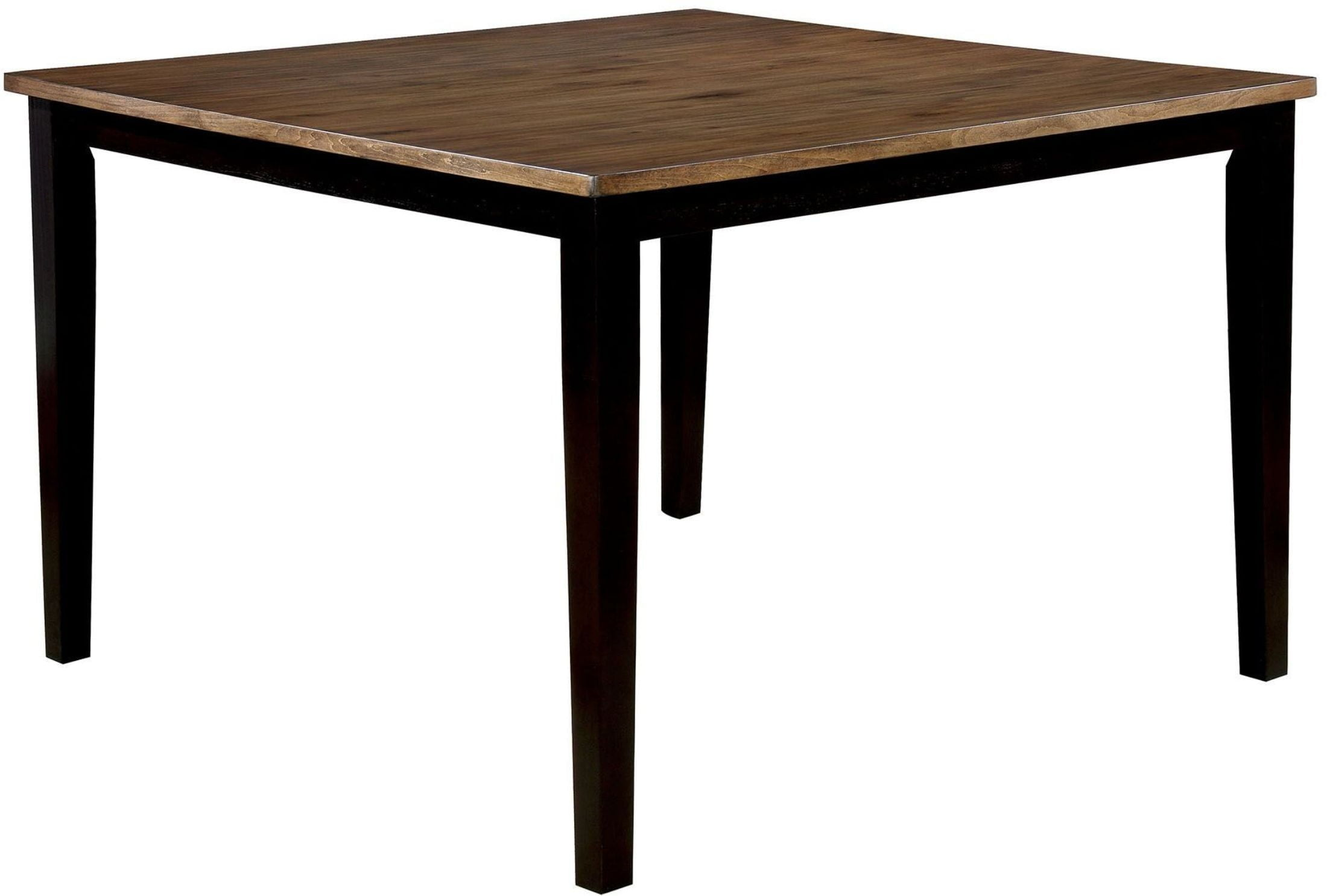 Dining Table Height Cm Izidora Rustic Oak And Espresso Counter Height Dining