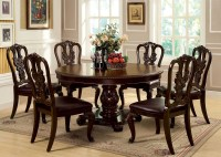Bellagio Brown Cherry Round Pedestal Dining Room Set from